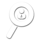 Magnifying Glass With Man Icon